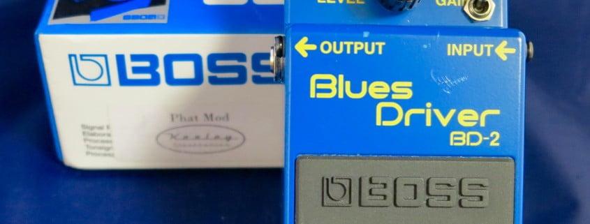 boss blues driver top & box