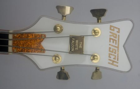 gretsch white falcon headstock face