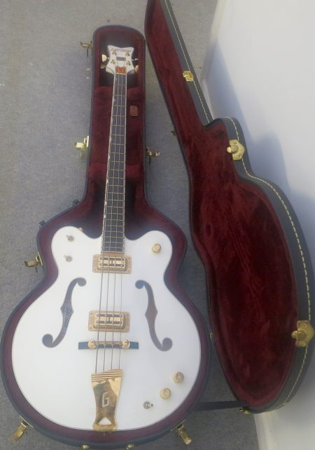 gretsch white falcon case bottom